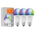 КОМПЛЕКТ 3x LED RGBW Димерна лампочка SMART+ E27/9,5W/230V 2700K-6500K - Ledvance