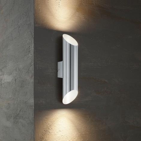 Eglo 54604 - Уличный светодиодный настенный светильник AGOLADA 2xLED/3,7W/230V IP44