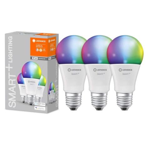 НАБІР 3x LED RGBW Димерна лампочка SMART+ E27/9W/230V 2700K-6500K Wi-Fi - Ledvance