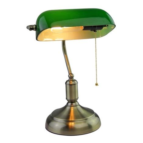 Настільна лампа BANKER 1xE27/60W/230V