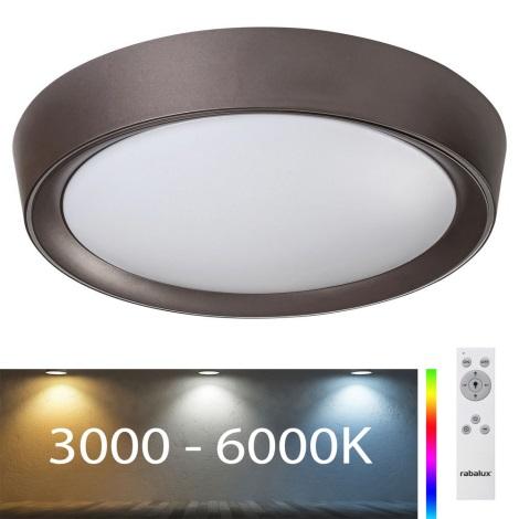 Rabalux - LED RGB Стельовий світильник з регулюванням яскравості LED/24W/230V + ДК 3000-6000K