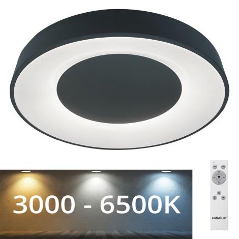 Rabalux - Стельовий LED світильник з регулюванням яскравості LED/38W/230V чорний + ДК 3000-6500K